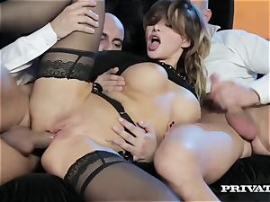 perky bap Anna Polina Gets Some raunchy double penetration