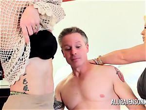 mummy detective Alura Jenson threesome fuck-fest