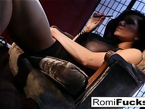 Romi Rain fuck sticks herself