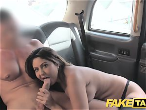 fake taxi thick facial cumshot spunk shot for brunette in stocking