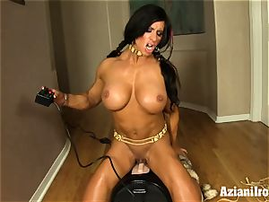 thick strenuous gal rails sybian and shoots a load rock-hard