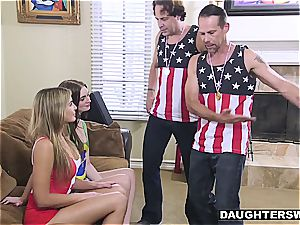ultra-kinky daughters-in-law have to penetrate after losing an Olympic bet