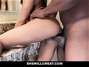 SheWillCheat - cheating wifey smashes big black cock in bathroom