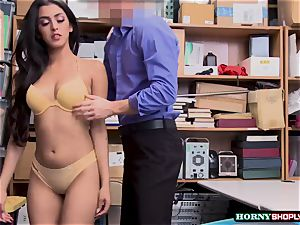 steaming Latina Sophia Leone gets her cunt plumbed by officers fat penis so hard