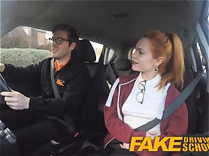 faux Driving college ultra-cute sandy-haired Ella Hughes ravages