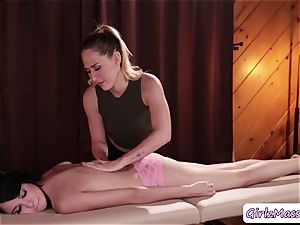 masseur Carter Cruise puts yoni eggs Cadey Mercurys twat and tongues it