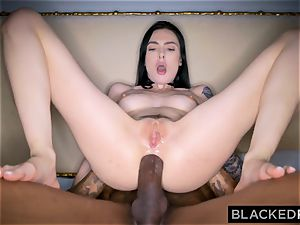 BLACKEDRAW Canadian gf takes yam-sized big black cock in her butt