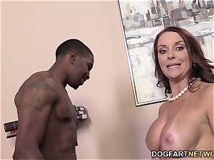 Janet Mason Gets drilled By 2 insane ebony guys