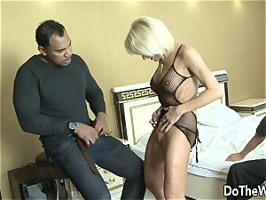 cougar wifey takes dark-hued prick in all crevasses
