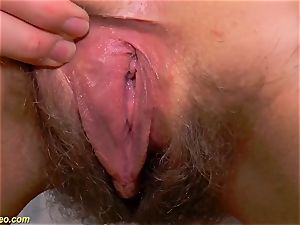 hairy nubile nude stretching