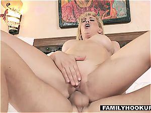 FamilyHookups - super-fucking-hot blonde Stepmom fucks Her Stepson