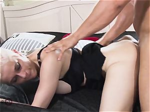 HITZEFREI gigantic breast German mummy picked up and pounded firm