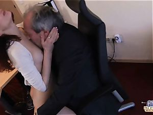 I am a secretary seducing my chief at work office