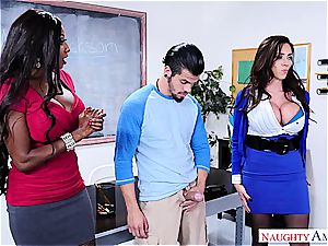 mischievous guy boinks his professor and stepmom at college