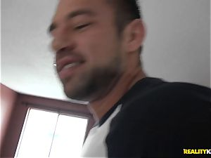 jizm swallowing Jade Dylan plowed in her humid cooter