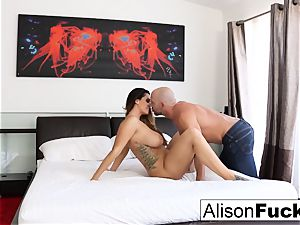 bodacious Alison takes some supreme meatpipe in her bedroom