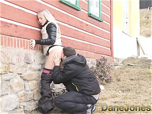 Dane Jones fellate oral job public doggie facial cumshot