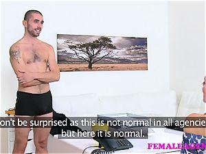 FemaleAgent large cum shot covers agents vagina