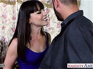 brunette wife Dana DeArmond take salami