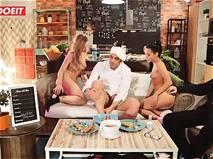 LETSDOEIT - romp Cooking With babes Apolonia and Angel