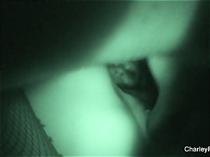 Night vision drilling with super steamy Charley pursue