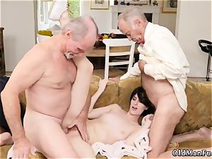 senior cougar striptease and mom young patron crony Frannkie goes down the Hersey highway