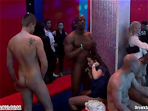 Mass porn intercourse in a striptease bar