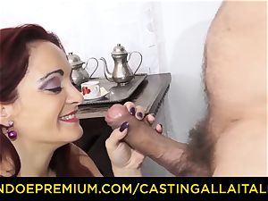 audition ALLA ITALIANA - chesty newcomer goes for buttfuck romp