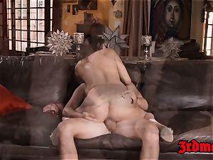 seductive Ashley Adams oralled and riding stepbro bone