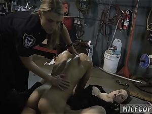towheaded milf drains in kitchen and hefty bootie black plowed first time Chop Shop holder