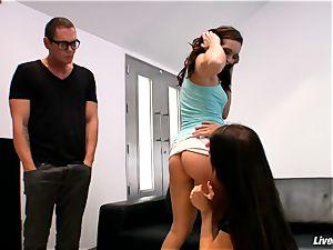 LiveGonzo Amy Brooke & Gracie Glam Orgasmic teenager Threes