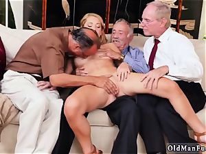 older pounding youthful honeys Frannkie And The group Tag crew A Door To Door Saleswoman