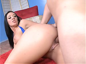 Jayden James gets her moist coochie stuffed with rock hard manhood