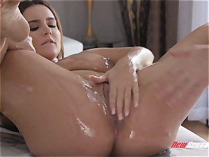 Natasha super-cute hard-core giant breast massage