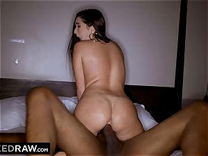 BLACKEDRAW Latina wifey rockets with 12 inch monster dark-hued pecker