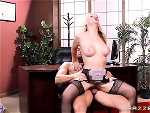 Sarah Vandella caught being super-naughty in the office