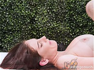 big-titted black-haired gets her daily doze of black shaft
