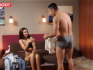 european nubile Gets Help and giant chisel from Stranger