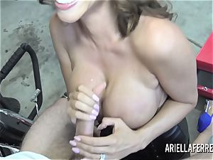 Ariella Ferrera pays the bills with her super-steamy penetrate fuck hole