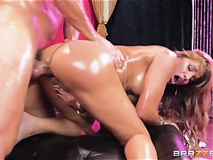 Oily booty inserted Mercedes Carrera