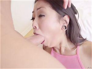 foot Fetish porno with wild chinese slut Saya Song