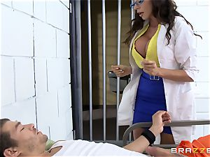 wonderful jail physician Ariella Ferrera strokes off her patient