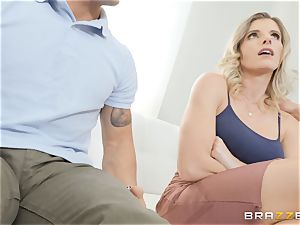 Cory chase packing a big man rod into her cooter