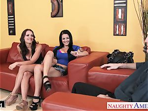 fantastic Katrina Jade and Kayla West sharing a prick