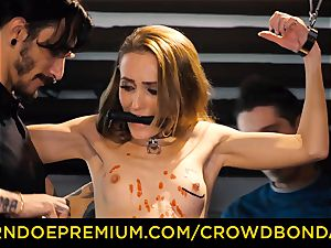 CROWD restrain bondage smallish slave nymphomaniac fetish gang intercourse