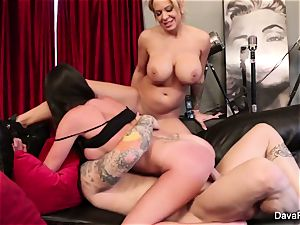 point of view gargling and pummeling with Dava Foxx and Alyssa Lynn