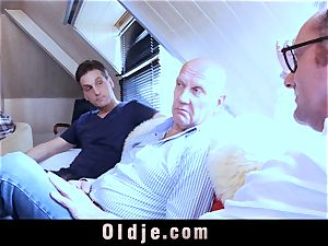 six oldman screwing in gang a luxurious super hot blond