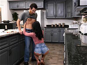 Gina Valentina likes sloppy kitchen hump