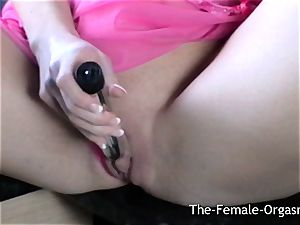 beautiful light-haired jerking her wet pussy in the Kitchen