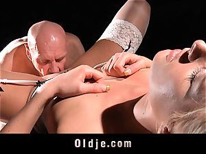 gorgeous hardcore youthfull slut pulverize oldman with love